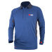 Q-WICK Dry Polo Long Sleeve - Blue/Charcoal
