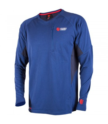 Q-Wick Dry Long Sleeve Shirt - Blue/Charcoal