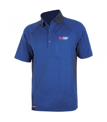 Q-Wick Dry Polo Shirt - Blue/Charcoal