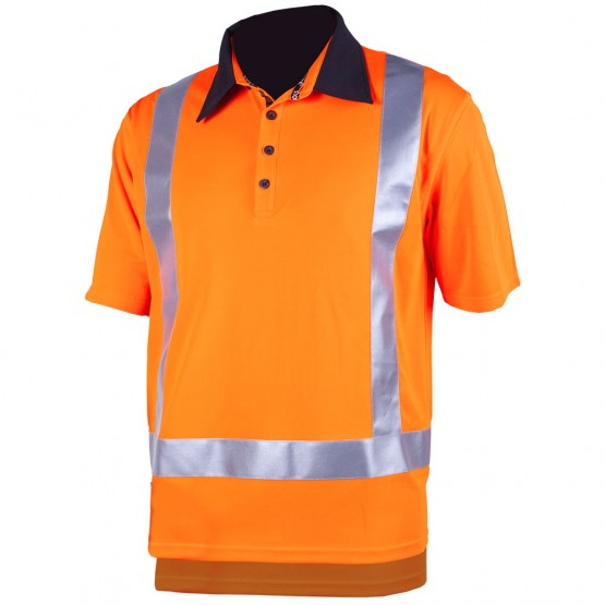 Hi Vis Silverdry Short Sleeve Polo