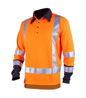Hi Vis Silverdry Long Sleeve Polo